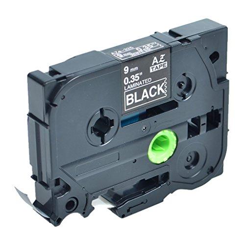 - GREENCYCLE 1 Pack Compatible TZe-325 TZe325 TZ-325 TZ325 TZ TZe 325 Laminated White on Black 9mm 3/8