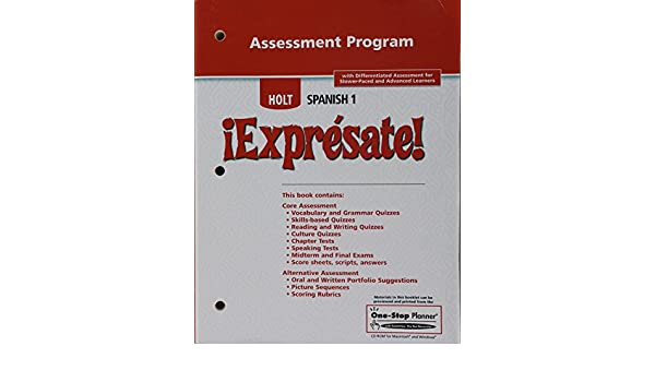 Expresate level 1 teaching resources assessment program rinehart expresate level 1 teaching resources assessment program rinehart and winston holt 9780030744143 amazon books fandeluxe Choice Image