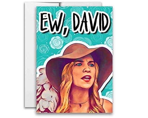 Schitt's Creek Ew, David Card Alexis Rose 5x7 inches w/Envelope