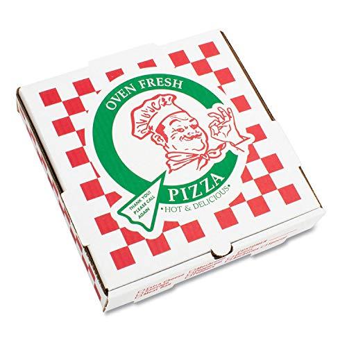 Pratt PRA1316 Pizza Box, B-Flute, Oven Fresh Pizza Print, 1 7/8