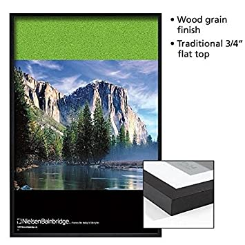 black royal fine wood poster frame 18x24 with plexi lens by nielsen