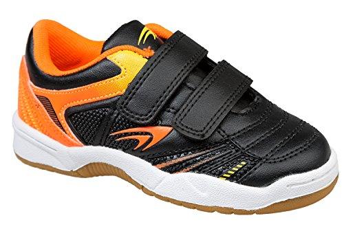 gibra® Niños Deportes Guantes para el gimnasio, con cierre de velcro, color negro/naranja, talla 25–36 negro / naranja