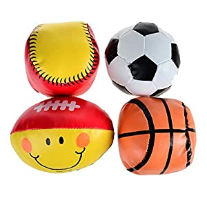 arpa Soft Safe Football Rugby Basketball Softball Baby Toy Balls – 4pcs Pack