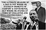 Inspirational Classroom Posters Dr Martin Luther King Jr Poster MLK Growth Mindset For Kids Motivational Teacher Educational Elementary High School Classrooms Decorations Home Gym Workout Fitness P008