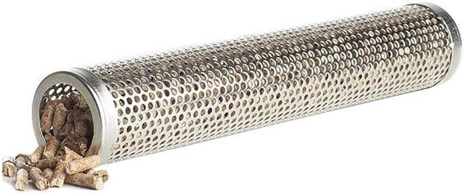 0,5m Edelstahl Lochrohr 45mm x500mm V2A Auspuffrohr Gelocht Rohr Perforiert