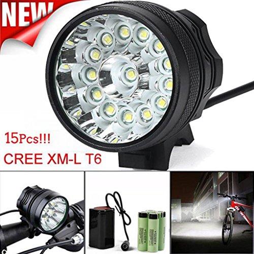 6400MAh Battery TFCFL 3X CREE XM-L U2 LED Outdoor Bicycle Bike Head Light Lamp