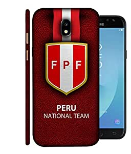 ColorKing Football Peru 05 Red shell case cover for Samsung J7 Pro 2017
