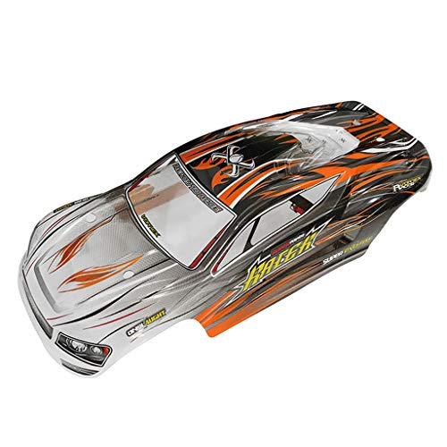 Lucoo Toy RC Car Part, Car Body Shell Cover CaseXLH Q903 9138 1/16 Off Road Nitro RC 1/16 Truck Body Shell Cover Body Accessory Spare Parts (Orange)