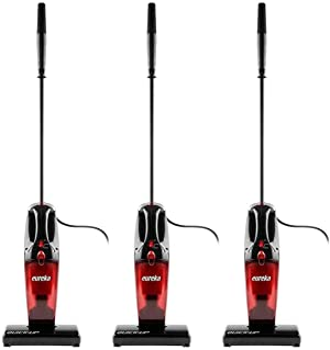 Eureka 169K 2-in-1 Quick-Up Bagless Stick Vacuum Cleaner for Bare Floors and Rugs, 169J+Filter, Light Red (Three Pack)