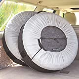 Kurgo Seasonal Tire Tote | Wheel Felts | Spare Tire Cover | Portable Wheel Bags | Winter Tire Cover | Eco-Friendly Tire Totes | Handle for Easy Transportation | Universal Fit