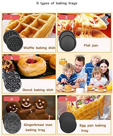 LBP Gaufrier Waffle Machine for paninis, Biscuits, rissolées Autres on The Go Petit déjeuner, déjeuner, ou des collations, Comprend 5 Plateaux de Cuisson gaufrier Professionnel