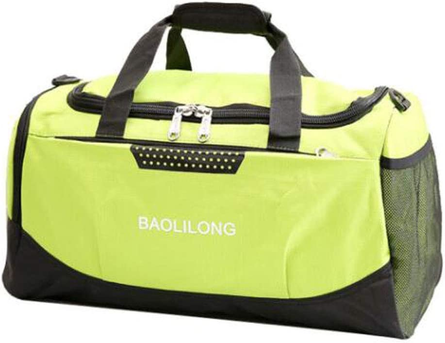 Color : Pink ZHICHUANG Fitness Bag Large-Capacity Short-Distance Travel Basketball Bag Folding Waterproof and Light Luggage Bag Black Size: 502330 Travel Duffel Bag for Men and Women