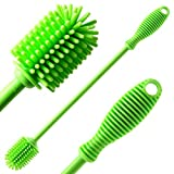 GoodMuch Water Bottle Brush - Bottle Cleaning Brush with 12.5'' Long Handle, Antibacterial Bottle Cleaning Brush for Water Bottle, Baby Bottle, Glass Bottle, Thermos
