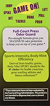 Body Mint Sport for Active and Athletic Lifestyles 2 Pack