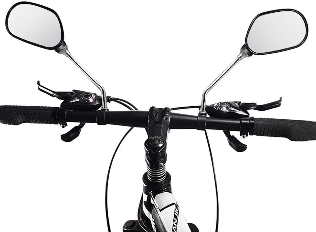 2Pcs 22.2mm Glass Bike Mirror Handlebar Adjustable Bicycle Rearview Mirror
