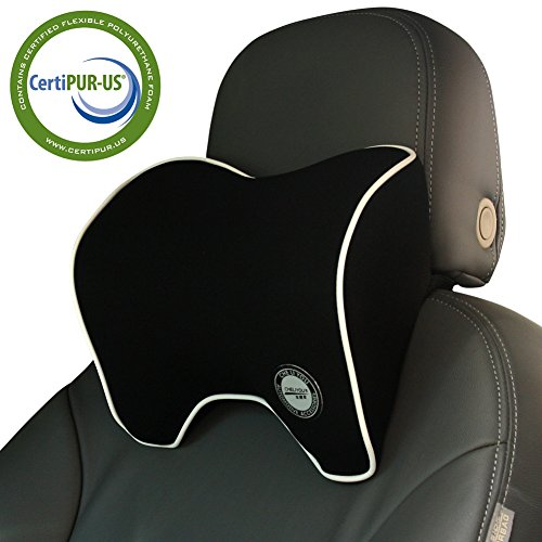 Car Neck Pillow With Memory Foam Neck Support For Car Seat Headrest (Car Headrest Pillow)