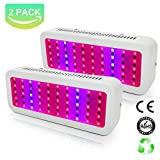 Cheap [Pack of 2] Derlights 300W LED Grow Light Full Spectrum, Greenhouse Kit with UV and IR,Panel Hanging Grow Lights for Indoor Plant Garden Hydroponics Growing System Veg and Flower