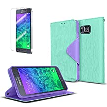Cellto Samsung Galaxy Alpha Premium Wallet Case with HD Screen Protector [Dual Magnetic Flap] Diary Cover /w ID Pocket + Life Time Warranty
