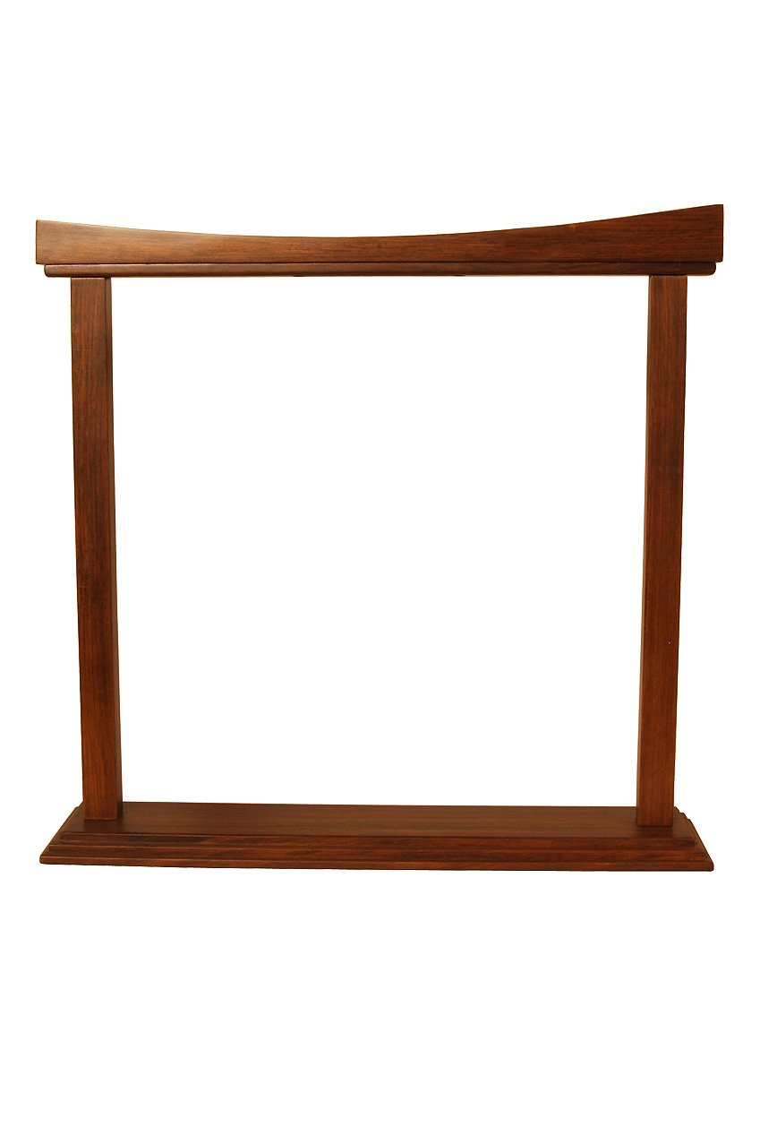 DOBANI Gong Stand, Rosewood, Curved, 18-Inch GSBR18