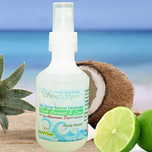 Skin2spirit All Natural Sea biologique Déodorant Spray - Coconut Lime Fresh &