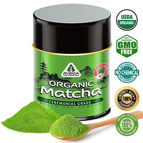 Foods Organic Green Tea (Matcha Green Tea Powder - [USDA Organic] Japanese Ceremonial Grade - Best Antioxidant 100% Pure [30g - 1oz] Original Powerful Energy Booster Distinctly Top Superfood Uji Imported Great hot N cold Brew)