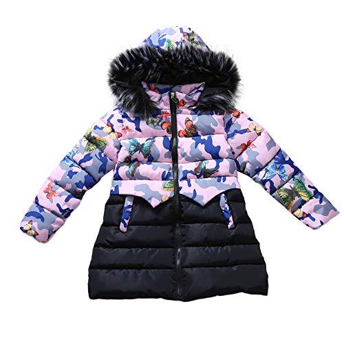 Little Kids Winter Warm Coat,Jchen(TM) Fashion Children Kids Little Girl Winter Warm Coats Jacket Kid Zipper Thick Hoodie Camouflage Outerwear Jacket for 5-9 Y (Age: 5 Y) by Jchen Baby Coat