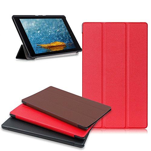 Amazon Fire HD 8 Tablet Case, Buruis  Premium Leather Shockp