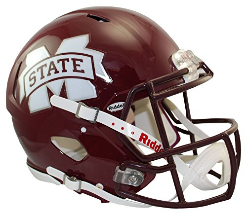 Riddell Sports NCAA Mississippi State Bulldogs Speed Authentic Helmet, Maroon