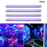 UV LED Black Light Fixtures, B-right T5 Integrated Blacklight Bar for Poster, Party,UV Art, Ultraviolet Curing, Authentication Currency or Stain Detector with Built-in ON/OFF Switch (4-pack)