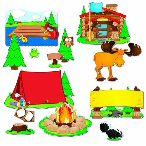 School Bulletin Board Set - Carson Dellosa Camping Bulletin Board Set (110146)
