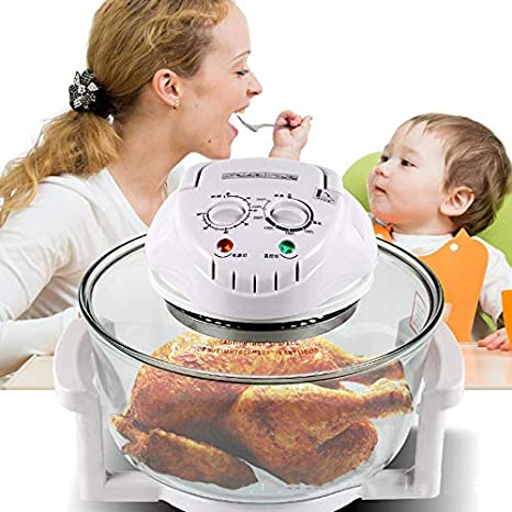 Amazon.com: Air fryer Viewing window, Traditional Deep fryer Convection oven Easy to clean No oil fryer Hot air oven Healthy fryer Mini oven-White: Kitchen ...