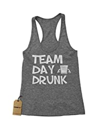 Expression Tees Team Day Drunk Triblend Racerback Tank Top for Women
