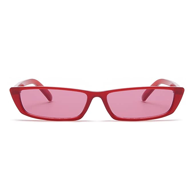 c419c16a449c Gobiger Rectangle Small Frame Sunglasses Fashion Designer Square Shades for  Women (Red Frame