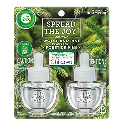 UPC 062338983271, Air Wick Scented Oil 2 Refills, Woodland Pine, (2X0.67oz), Air Freshener