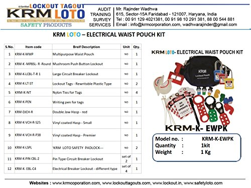 LOTO Electrical Waist Pouch Lockout Kit Metalic Finish by LOTO (Image #2)