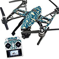 Skin For Yuneec Q500 & Q500+ Drone – Deco Fish | MightySkins Protective, Durable, and Unique Vinyl Decal wrap cover | Easy To Apply, Remove, and Change Styles | Made in the USA
