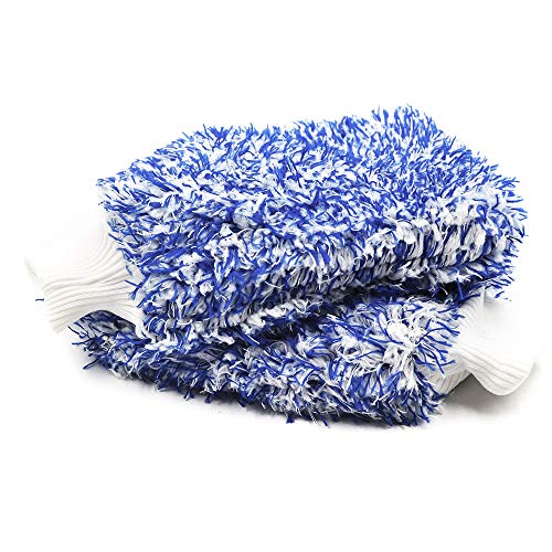 AVA Prime (2 Pack) Premium Cyclone Microfiber Wash Mitts, Large of 11x8,Totally Scratch & LINE-Free,Holds Tons of Suds for Effective Washing