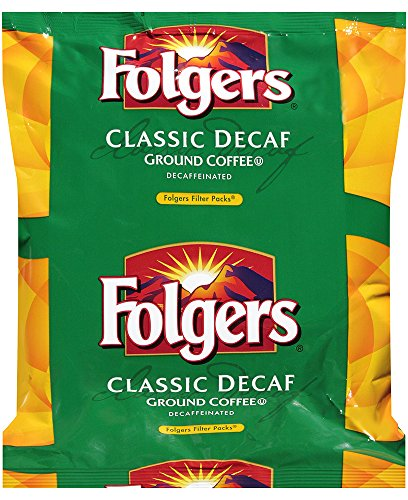 Classic Decaf Ground Coffee - Folgers Classic Decaf Ground Coffee, 0.9 Ounce (Pack of 40)