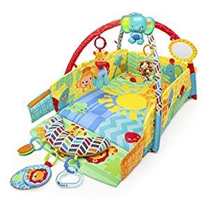 Bright Starts Baby's Play Place Playmat, Sunny' Safari