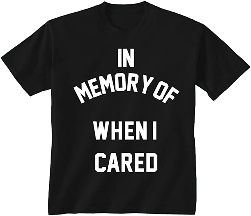 60d9d4603 Flip Youth Kids Childrens In Memory Of When I Cared Tumblr Slogan Funny T- shirt Black 5-6 Years (S): Amazon.co.uk: Clothing