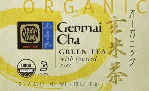 Yamamotoyama Organic Green Tea Genmai Cha, 2.19-Ounce Boxes (Pack of 6)