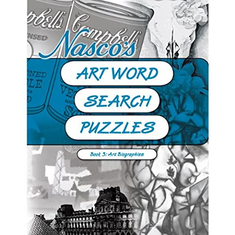 Nasco 9722004 Art Word Search Reproducible Puzzles Book 3-Art Biographies (Search Del)