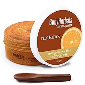 BodyHerbals Radiance & De-tan Body Polisher | Orange | Honey (200gms)