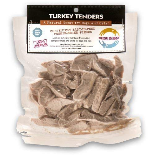 Fresh Is Best Freeze Dried Turkey, Dog & Cat Treats (Turkey Tenders)