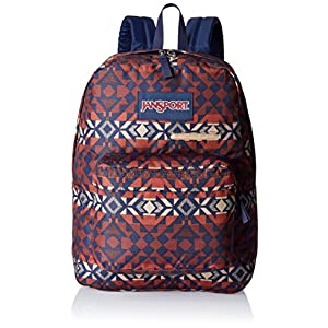 JanSport Mens Digital Carry Mainstream Digibreak Backpack - Burnt Henna Abstr...