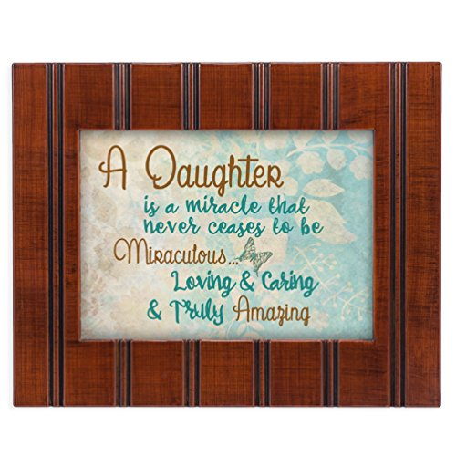 Daughter Truly Amazing 8x10 Woodgrain Framed Art Wall Plaque Sign ()