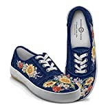 Lena Liu Garden Of Sunshine Floral Art Canvas Shoes: 9.5 by The Bradford Exchange offers