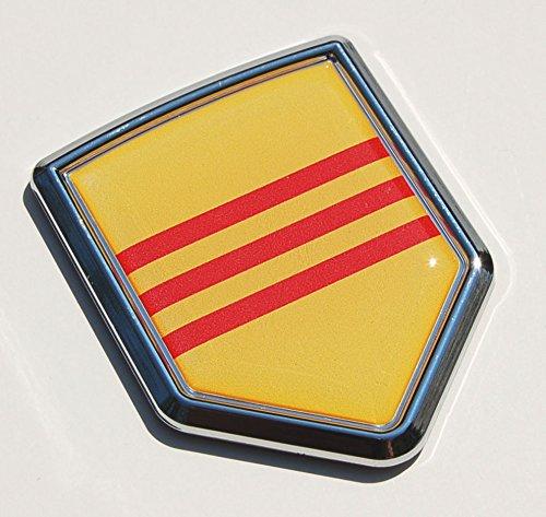 Vietnam Flag Decal Car Chrome Emblem Sticker Car Chrome Decals