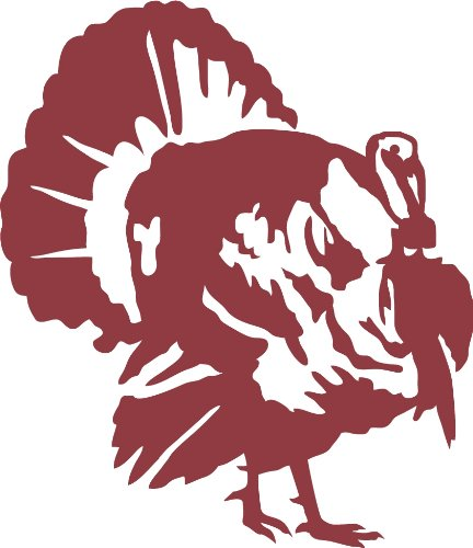 Express Yourself Products Strutting Tom Wall Decal (Dark Red - Facing as Shown - 3XL) - Upland Game Bird Collection