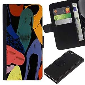 All Phone Most Case / Oferta Especial Cáscara Funda de cuero Monedero Cubierta de proteccion Caso / Wallet Case for Apple Iphone 6 // Abstract Art Colors Watercolor
